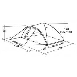 Easy Camp Tent Quasar 300 - Blue